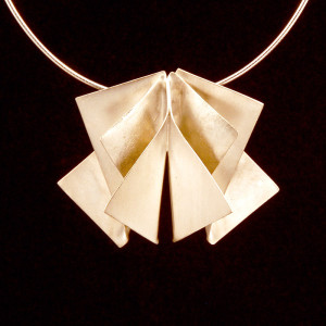 fourfold wings - silver pendant - lg
