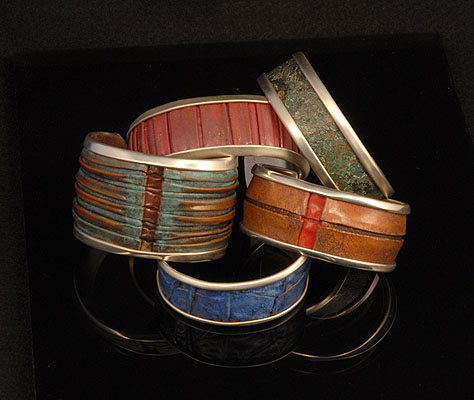 picture of silver-lined bracelets